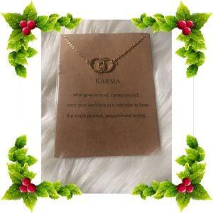 Jewelry - Karma Necklace 18 inch goldtone